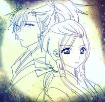 Koumei and Hakuei in Websunday Backstage Volume 266