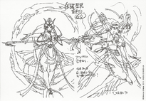 Ren Hakuei's Paimon Djinn Equip character designs
