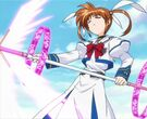 Mahou Shoujo Lyrical Nanoha Nanoha using the Divine Buster3