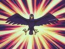 Akazukin Chacha Shiine crow transformation pose