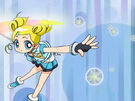 Powerpuff Girls Z Bubbles using her upgraded attack