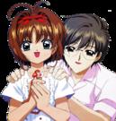 Card Captor Sakura Sakura and Yukito pose