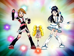 Futari wa Pretty Cure Max Heart Cure Black, Cure White and Shiny Luminous in the Opening