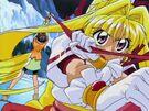 Kamikaze Kaitou Jeanne Kaitou Jeanne using her ribbon40