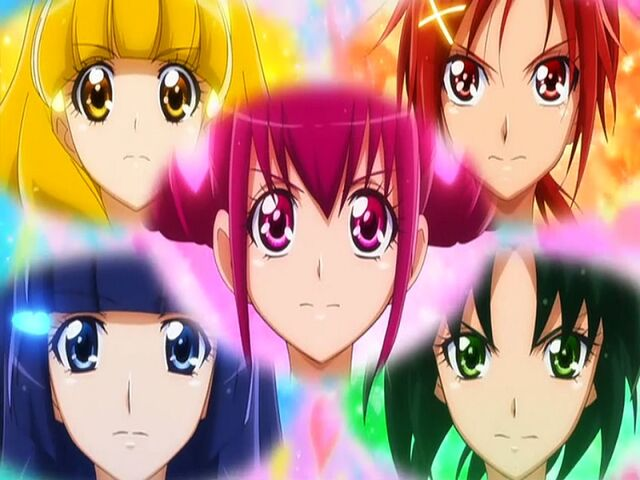 File:Smile Pretty Cure! Group Smile Charge transformation.jpg