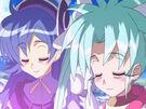 Sasami Mahou Shoujo Club Sasami and Misao using their magic3