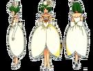 Wedding Peach Angel Daisy bride pose