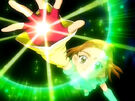 Futari wa Pretty Cure Splash Star Saki in her Cure Bright transformation