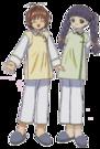 Card Captor Sakura Sakura and Tomoyo pose
