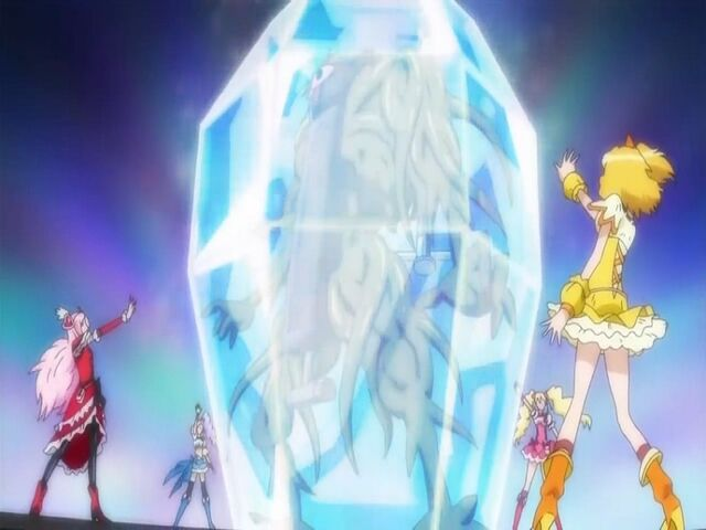 File:Fresh Pretty Cure! Fresh Cures using the Lucky Clover Grand Finale attack.jpg