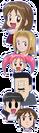 Majokko Tsukune-chan characters faces