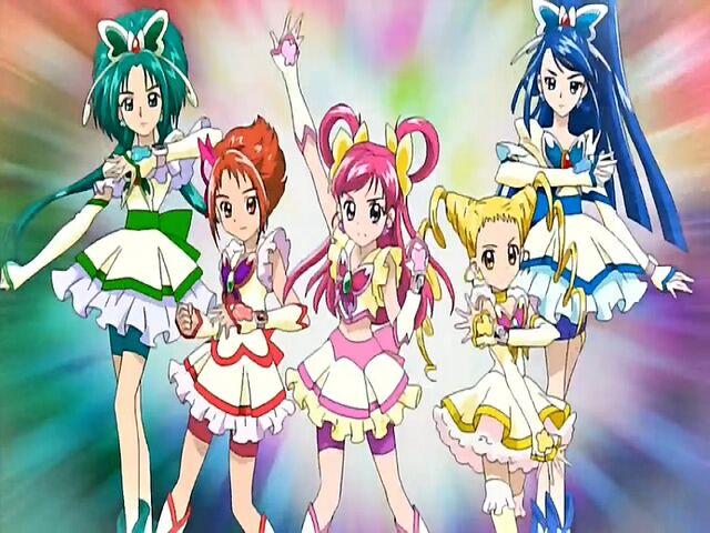 File:Yes! Pretty Cure 5 in the Opening.jpg