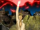 Kamichama Karin Kirio summoning the Zeus weapon