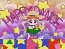 Yume no Crayon Oukoku Princess Silver using her Happy Dance bracelet (cowboy dress)