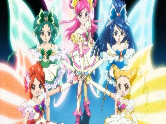 File:Yes! Pretty Cure 5 Super Pretty Cure 5 in the Five Explosion attack.jpg
