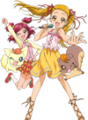 Yes! Pretty Cure 5 Nozomi, Urara, Coco and Natts pose