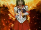Pretty Guardian Sailor Moon Sailor Mars using the Akuryou Taisan attack