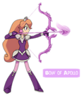 Amethyst, Princess of Gemworld Amethyst using the Bow of Apollo