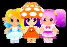 Gdgd Youseis Pikupiku, Shrshr and Korokoro pose2