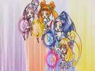 Doki Doki Special Heart, Diamond, Rosetta and Sword using the Lovely Force Arrow attack