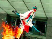 Bishoujo Kamen Poitrine Movie using fire magic