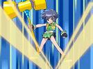Powerpuff Girls Z Buttercup using her attack13