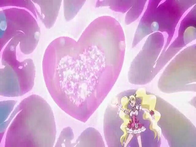 File:Fresh Pretty Cure! Cure Peach using the Love Sunshine Fresh attack.jpg