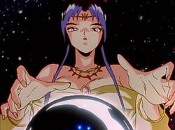 Rei Rei Kaguya using her crystal ball