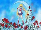Sailor Moon Crystal Moon Prism Power transformation pose (crescent moon)