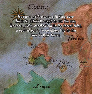 "The first shown map of Cantera in <a href=""/wiki/Chapter_7"" title=""Chapter 7"">Chapter 7</a>."