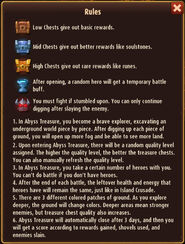 Abyss treasure rules