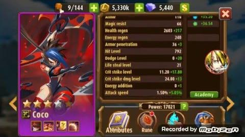 Magic Rush Heroes Coco lvl 85 Review