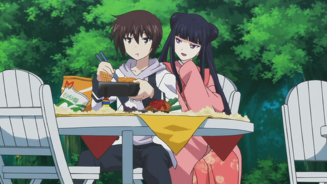 File:Kokoro and Yamato- Flirting during lunch.jpg