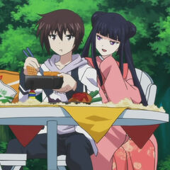 Kokoro flirting with Yamato during lunch (Anime)