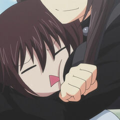 Yamato being 'chest hugged' by Momoyo(Anime)