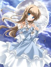 Snow moon angel
