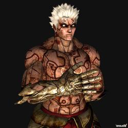Asura wrath asura half metal hands by mrgameboy2011-d4yffbk