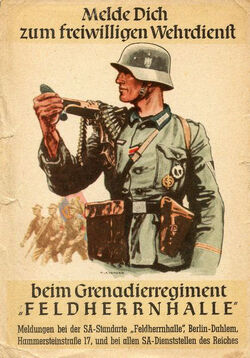 Recruitment poster Neubayern