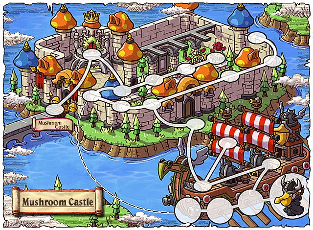 WorldMap Mushroom Castle