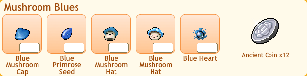 Crying Blue Mushroom Collection