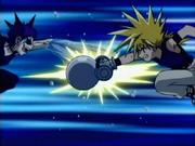 Ginta fighting Girom
