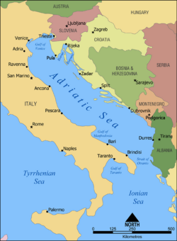 Adriatic Sea map