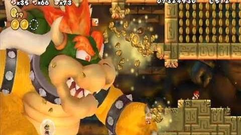 New Super Mario Bros. Wii - All Boss Fights & Final Boss (All Koopalings, Bowser Ending)