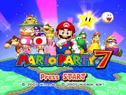 Mario Party 7 Title Screen