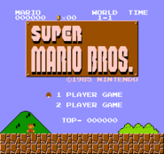 Super Mario Bros. - Title Screen