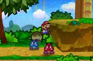 Mario Attacking Red Goomba