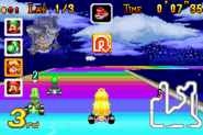 Rainbow Road - Princess Peach Racing - Mario Kart Super Circuit