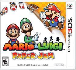 Mario & Luigi Paper Jam Boxart