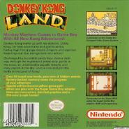 Back Cover - Donkey Kong Land - North America