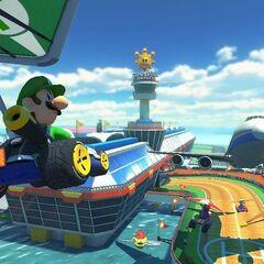 Luigi gliding on Sunshine Airport.